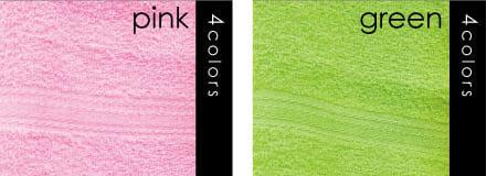 ピンク グリーン 名入れカラータオル 印刷 激安 日本製 標準厚 200匁