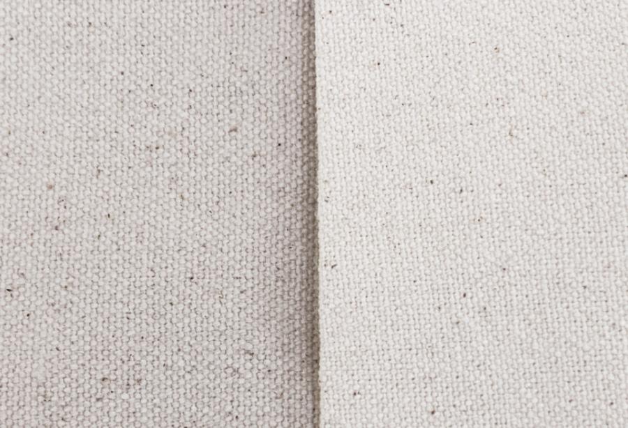 生地の色味と綿の殻(綿カス)